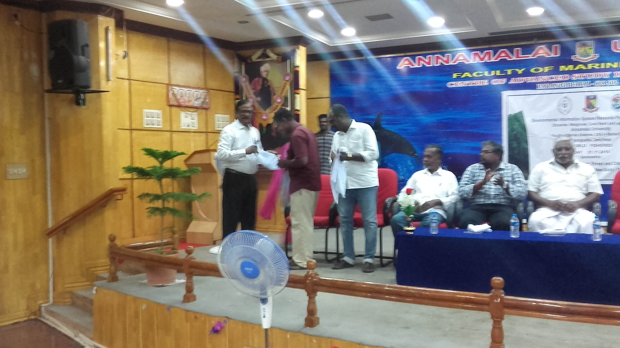Mr. Muthurajan honoured by our ENVIS co-ordinator